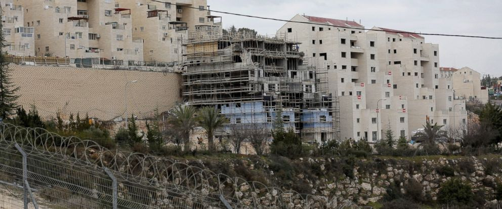 "PHOTO: General view of construction at the ""Kiryat Arba"" settlement in the West Bank city of Hebron, on Jan. 25, 2017."