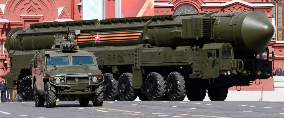 PHOTO: Russian mobile strategic missile Yars takes part in the military parade on Red Square in Moscow, Russia, May 9, 2016.