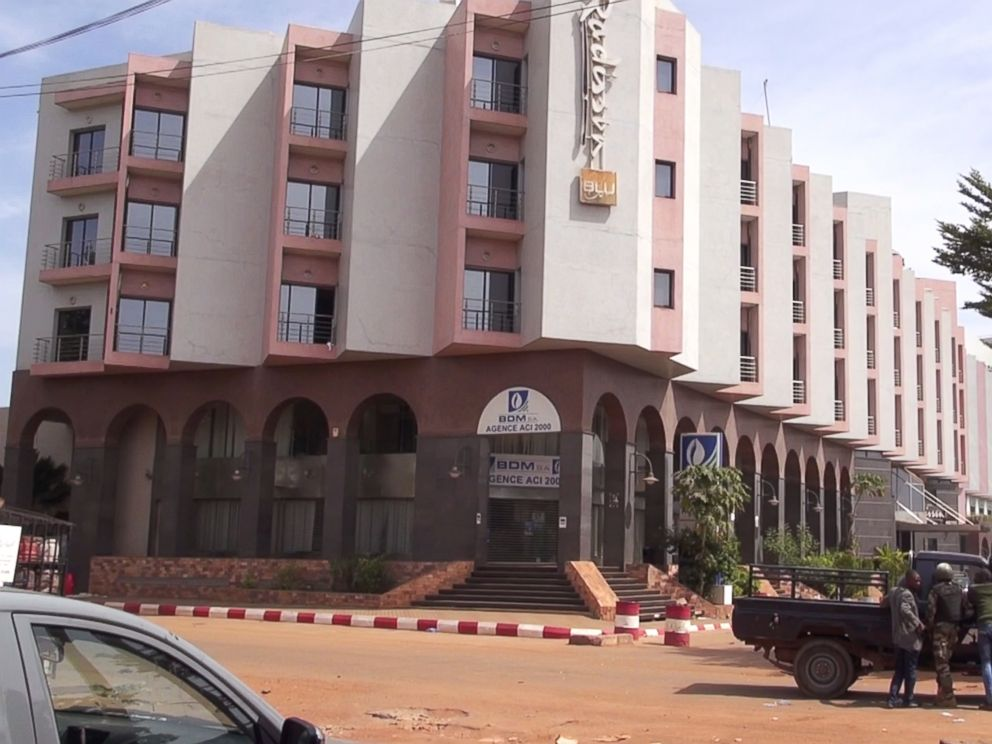 PHOTO: The Radisson Blu luxury Hotel is seen during a hostage situation in Bamako, Mali, Nov. 20, 2015.