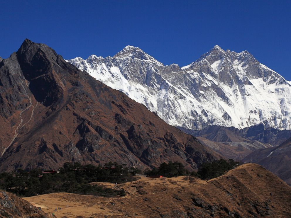 PHOTO: A view of Mount Everest and Ama Dablam from Sagarmatha National Park, Oct 30, 2012, Nepal.