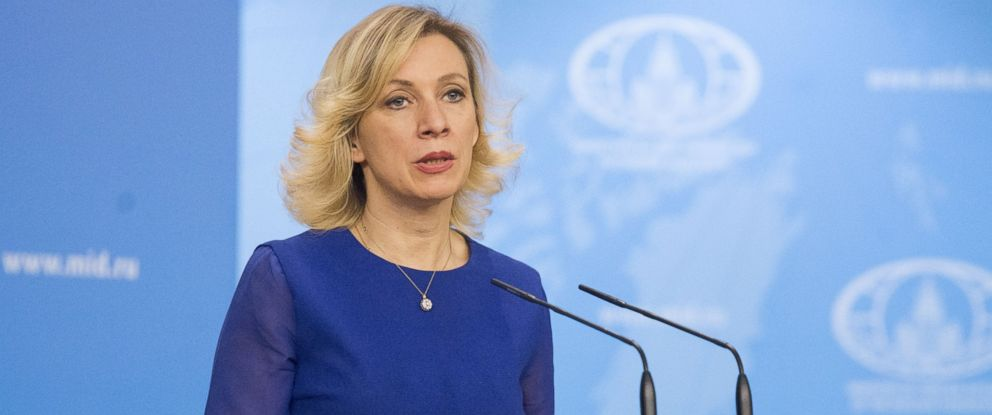 PHOTO: Russian foreign ministry spokeswoman Maria Zakharova during a press conference at the Russian Foreign Ministry building in Moscow, Russia on April 19, 2017.