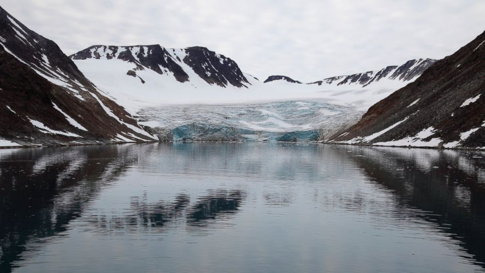 A glacier in the Artic Ocean near Noway is pictured in this undated stock photo.