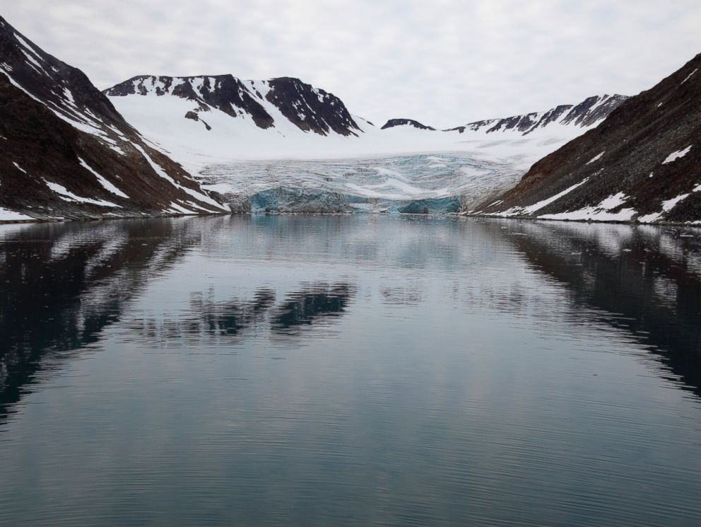 PHOTO: A glacier in the Artic Ocean near Norway is pictured in this undated stock photo.