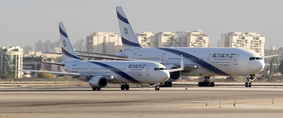 PHOTO: El Al Israel Airlines planes on the tarmac at the Ben Gurion International Airport near Tel Aviv,July 19, 2016.