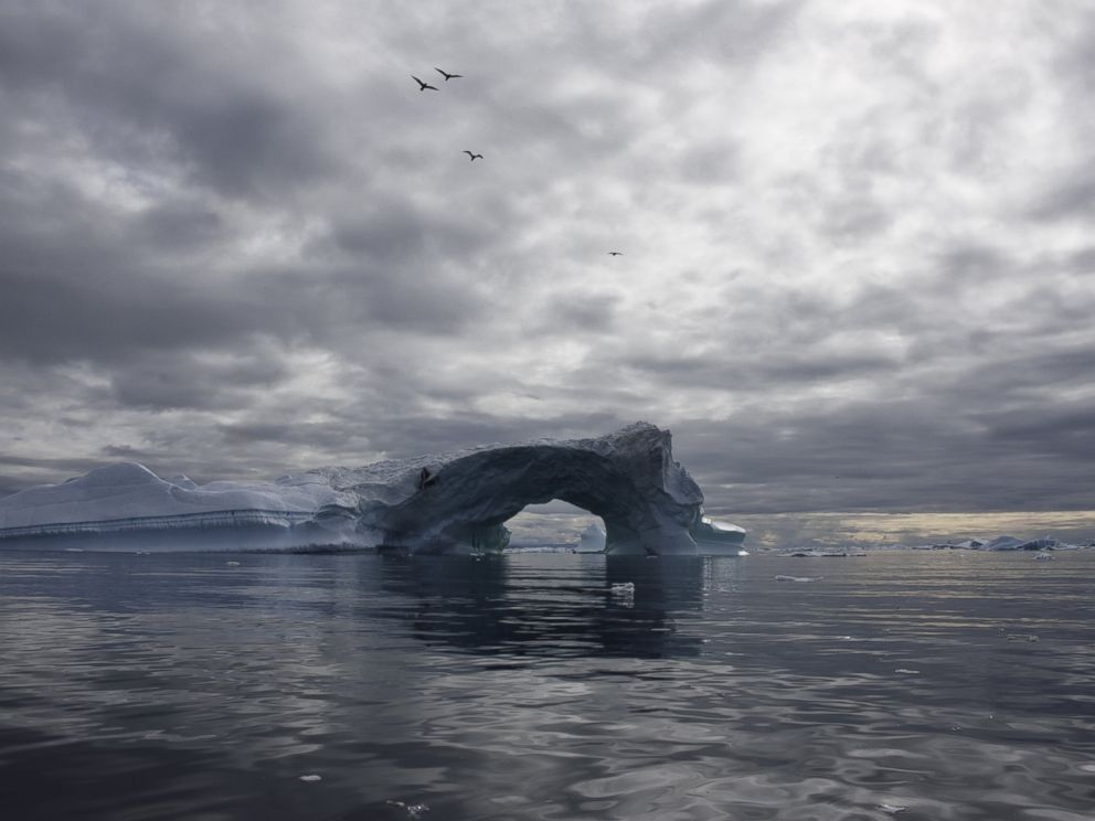 PHOTO: A floating iceberg in Greenland is pictured in this undated stock photo.