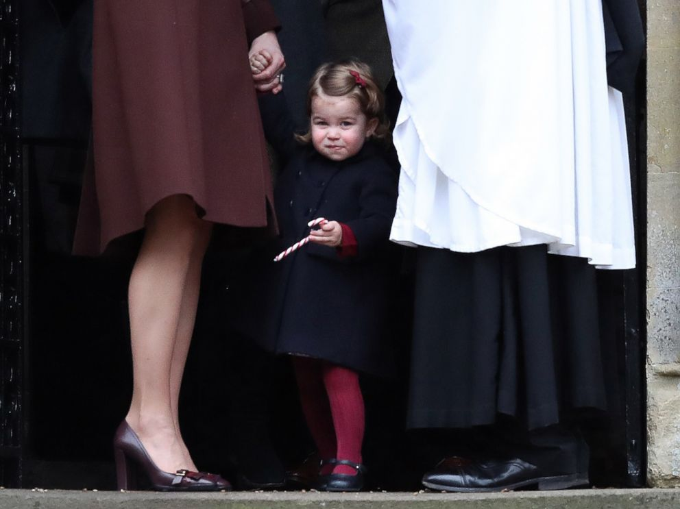 PHOTO: Princess Charlotte of Cambridge is pictured after Christmas Day service at St Marks Church, Dec. 25, 2016 in Bucklebury, Berkshire.