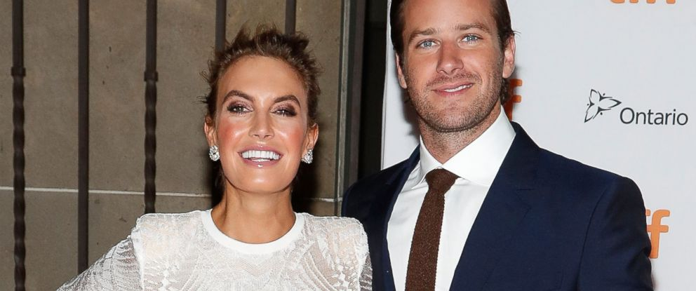 "PHOTO: Elizabeth Chambers and Armie Hammer attend the world premiere of ""Free Fire"" during the 2016 Toronto International Film Festival at Ryerson Theatre, Sept. 7, 2016, in Toronto, Canada."
