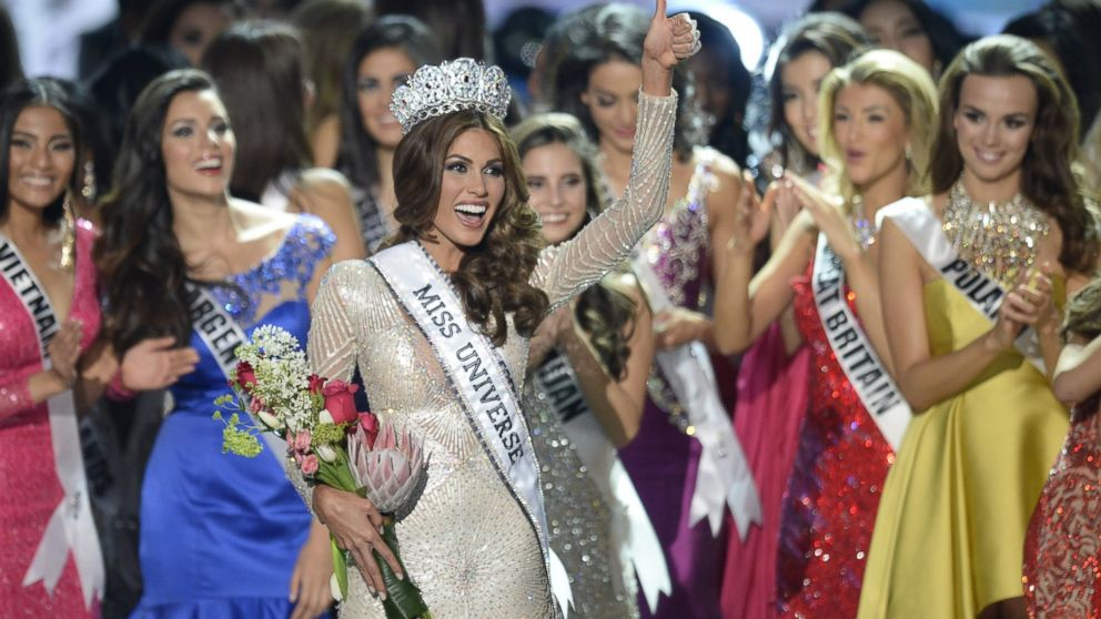 Miss Venezuela Gabriela Isler celebrates with her crown during the 2013 Miss Universe competition in Moscow on Nov. 9, 2013.