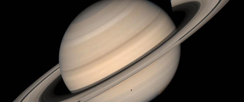 PHOTO: This August 1998 NASA file image shows a true color photo of Saturn assembled from Voyager 2 spacecraft.