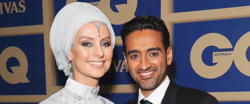 PHOTO: Susan Carland and Waleed Ali arrive ahead of the 2015 GQ Men Of The Year Awards on Nov. 10, 2015 in Sydney.