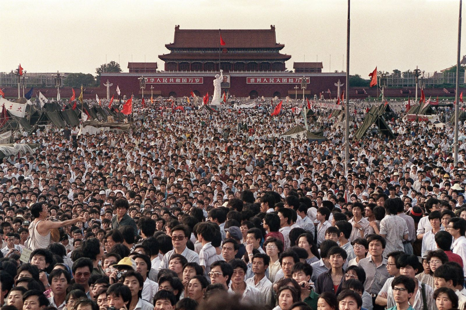 the protest at tiananmen square
