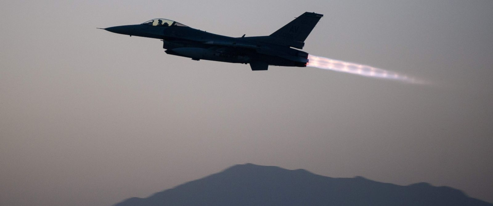 PHOTO: A U.S. Air Force F-16 Fighting Falcon aircraft assigned to the 555th Expeditionary Fighter Squadron taking off on a combat sortie from Bagram Air Field, Afghanistan, Sept. 6, 2015.