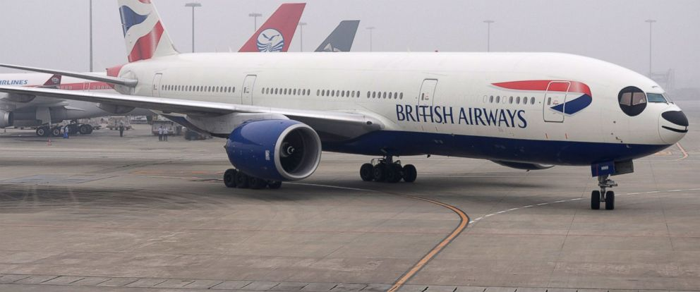 PHOTO: A British Airways Boeing 777 painted as giant panda lands at the Shuangliu International Airport on Sept. 23, 2013 in Chengdu, China.