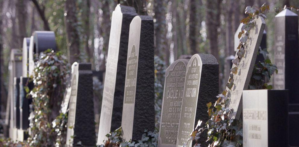 PHOTO: Tombstones stand in Berlins Jewish cemetery in Weissensee.