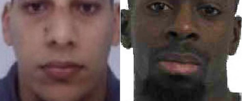 PHOTO: Cherif Kouachi, left, and Amedi Coulibaly, right, are pictured in images distributed by Direction centrale de la Police judiciaire.