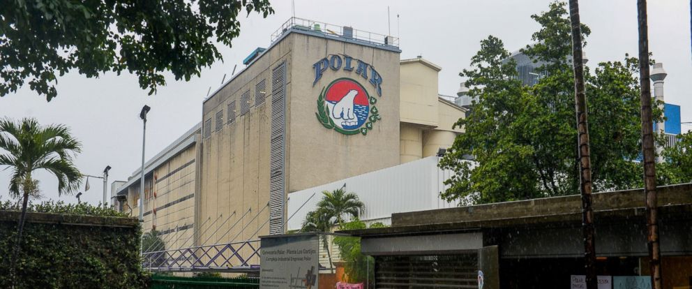 PHOTO: The plant for Cerveceria Polar, maker of Venezuelas best-known brands of beer, in Caracas, April 21, 2016.