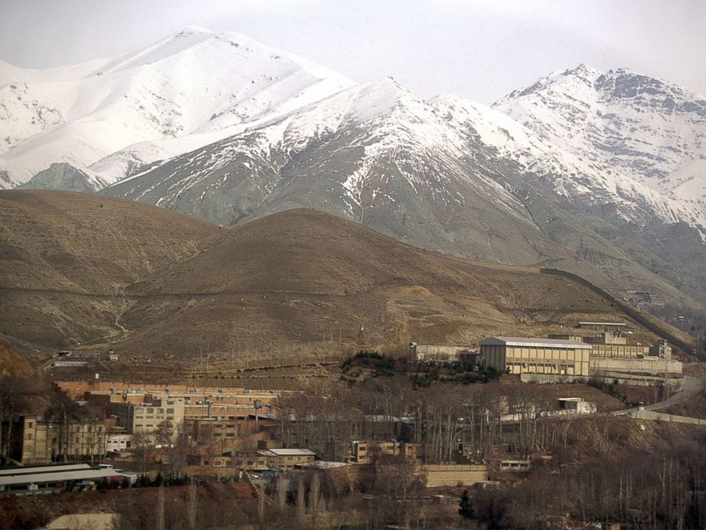 PHOTO: The Evin prison in Tehran and the Elburs mountains.