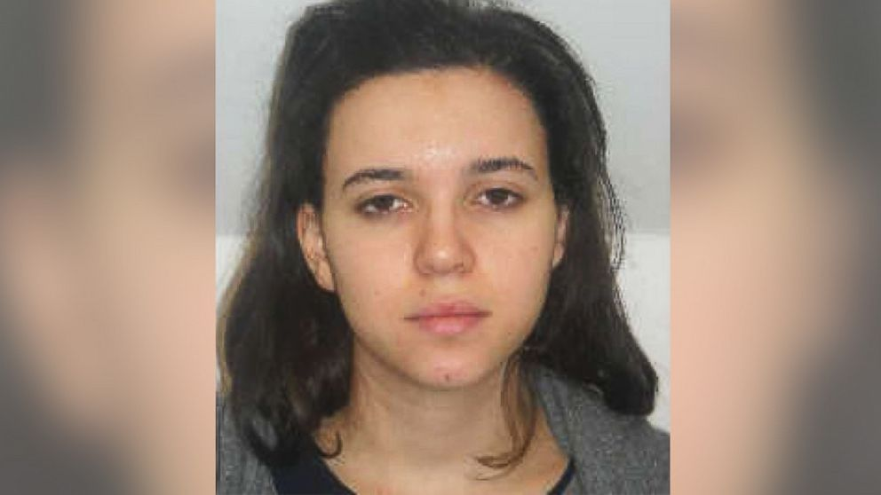Hayat Boumeddiene is pictured in this image distributed by Direction centrale de la Police judiciaire.