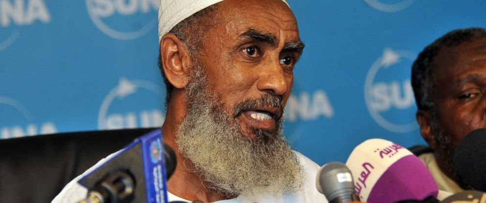 PHOTO: Ibrahim al-Qosi, the former cook of Osama bin Laden, speaks during a press conference in Khartoum, July 11, 2012, after he was release from the US detention centre at Guantanamo Bay, Cuba.