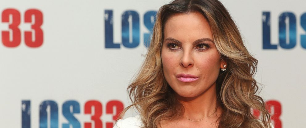 "PHOTO: Kate del Castillo is seen at the ""Los 33"" press conference at Four Seasons hotel on Aug. 24, 2015 in Mexico City."