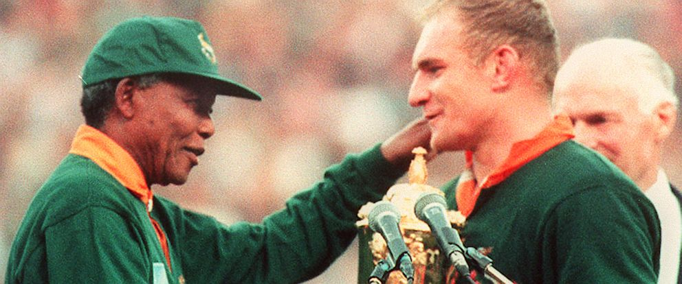 c1e4fde2c0a Nelson Mandela and the 1995 Rugby World Cup in South Africa - ABC News