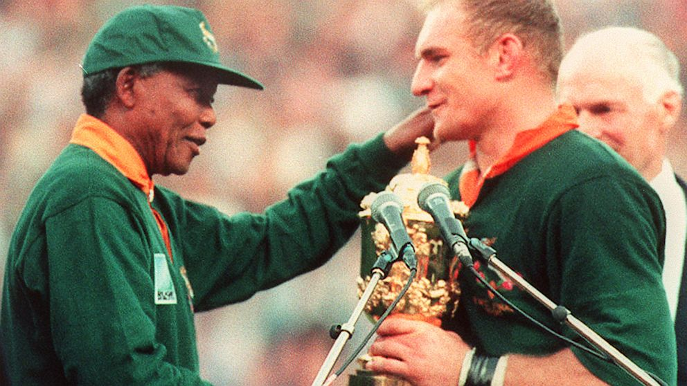 Vaak Nelson Mandela and the 1995 Rugby World Cup in South Africa - ABC News @XE72