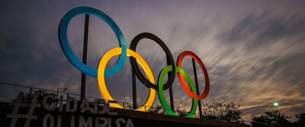 PHOTO: A view of the Olympic rings is seen here at Madureira Park, July 19, 2016, in Rio de Janeiro, Brazil.