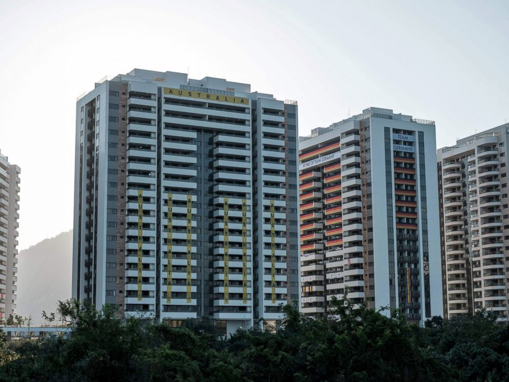 PHOTO: View of the Australian teams apartments at the Olympic Village during its inaugration in Rio de Janeiro, July 24, 2016, ahead of the 2016 Rio Olympic Games.