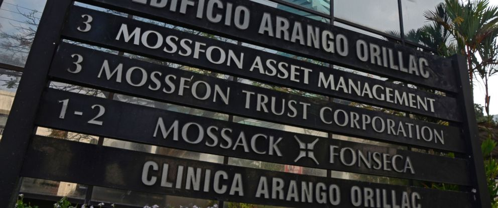 PHOTO:View of a sign outside the building where Panama-based Mossack Fonseca law firm offices are in Panama City, April 3, 2016.