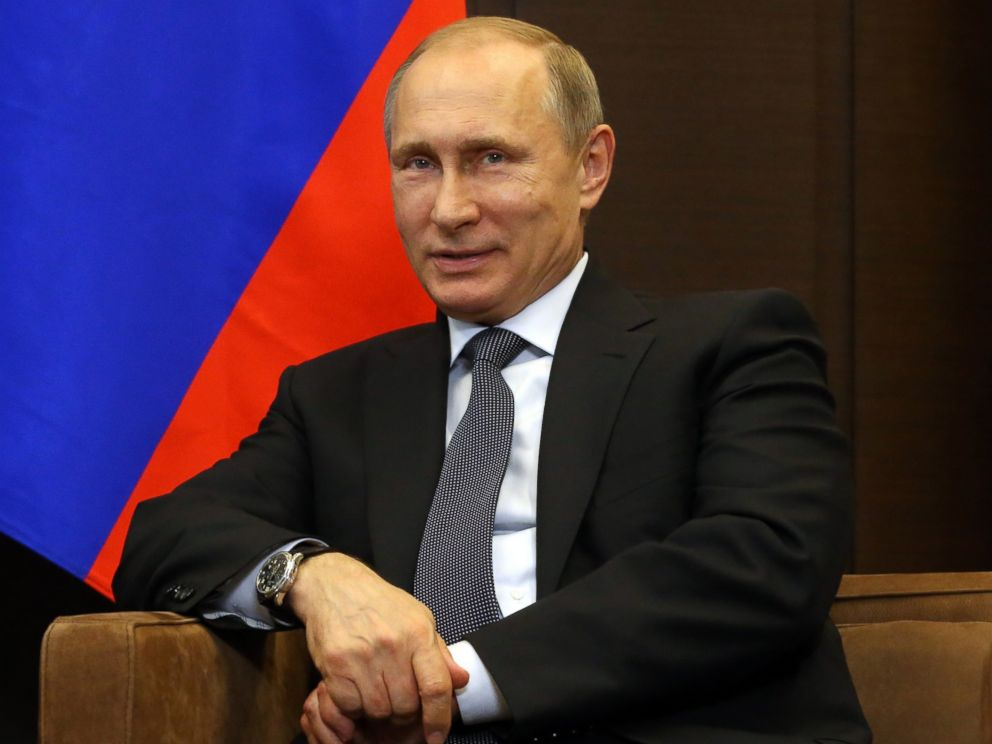 PHOTO: Russian President Vladimir Putin attends a meeting, May 15, 2015, in Sochi, Russia.