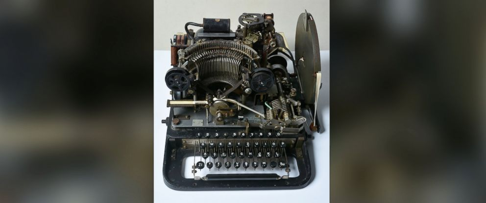 PHOTO: The teleprinter part of a Lorenz cipher machine that was purchased by the National Museum of Computing from eBay for 10 GBP (14.6 USD, 13.2 euro).