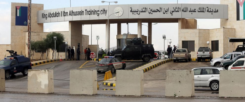 PHOTO:Additional anti-terrorism forces are seen guarding the entrance of King Abdullah Bin Al Hussein Training City, Nov. 9, 2015, in Muwaqqar, Jordan.