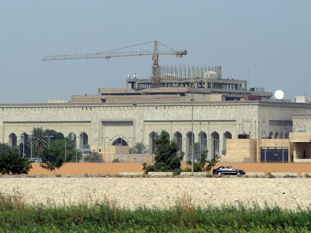 PHOTO: The new US embassy complex, still under construction, in the heavily fortified Green Zone, on the west bank of the Tigris River in Baghdad, Oct. 11, 2007.