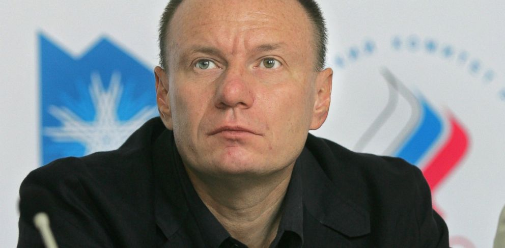 PHOTO: Vladimir Potanin appears at a news conference held after the announcement of russias black sea resort of sochi as candidate city to host the 2014 winter games, June 2006.