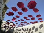 PHOTO: Pink umbrellas decorate the Lebanese Ministry of Public Health in the capital Beirut, Oct. 7, 2016, as part of a national campaign for the public awareness of breast cancer.