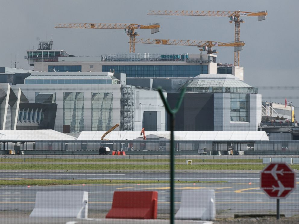 PHOTO: A picture taken on March 29, 2016 shows tents at Zaventem Airport in Brussels.