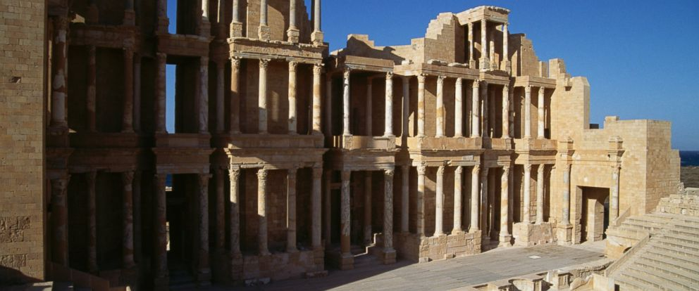 PHOTO: The Roman theatre in Sabratha, Libya is one of the sites on the UNESCO World Heritage List.
