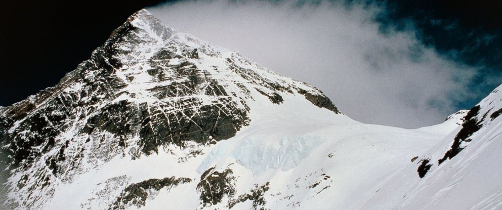 PHOTO: The summit of Mount Everest, The Himalayas, Nepal.