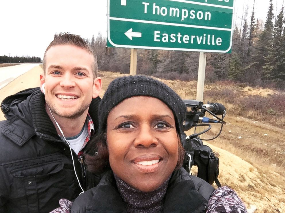 PHOTO: ABC News Deborah Roberts is pictured with producer Jonathan Balthaser.