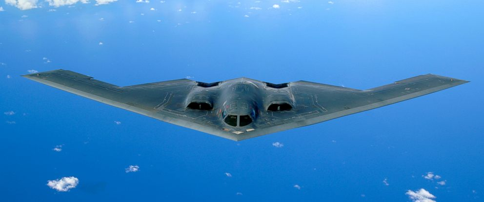 PHOTO: A B-2 Spirit soars after a refueling mission over the Pacific Ocean, May 30, 2006.