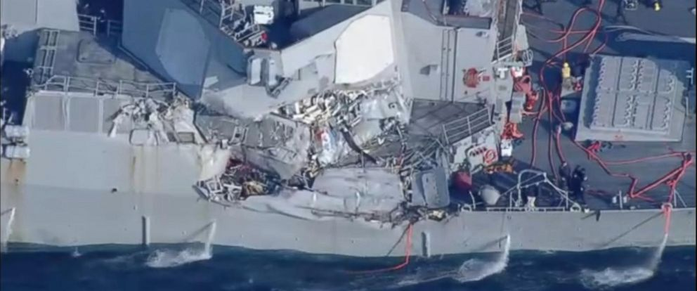 PHOTO: The USS Fitzgerald was involved in a collision, June 1, 2017.