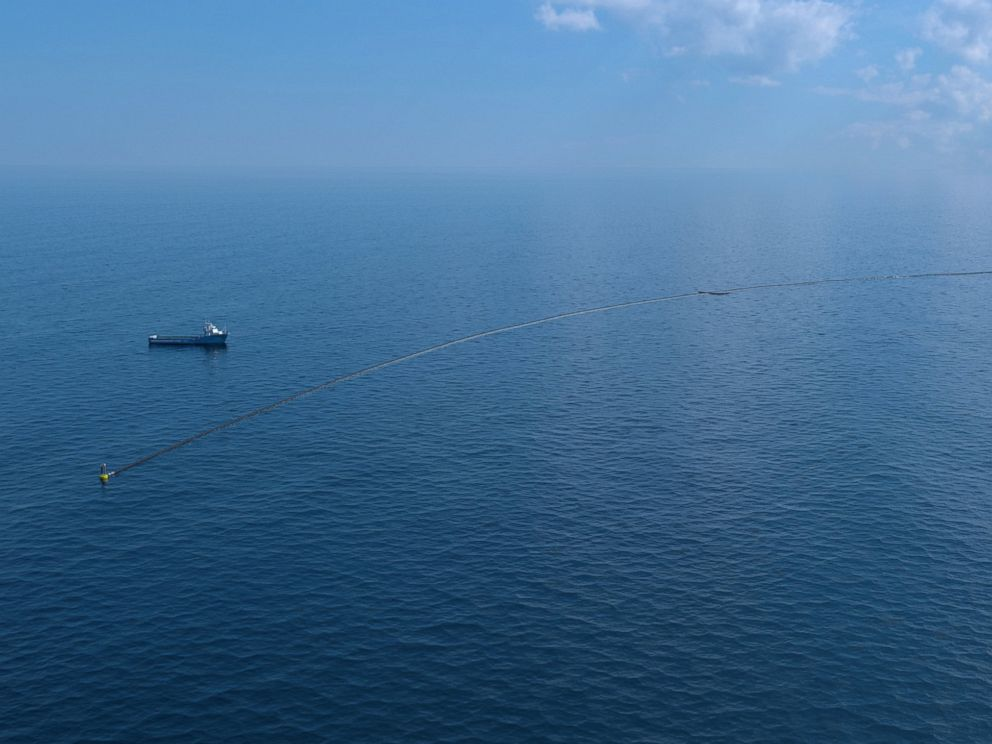 PHOTO: The Ocean Cleanup Deployment Simulation image.