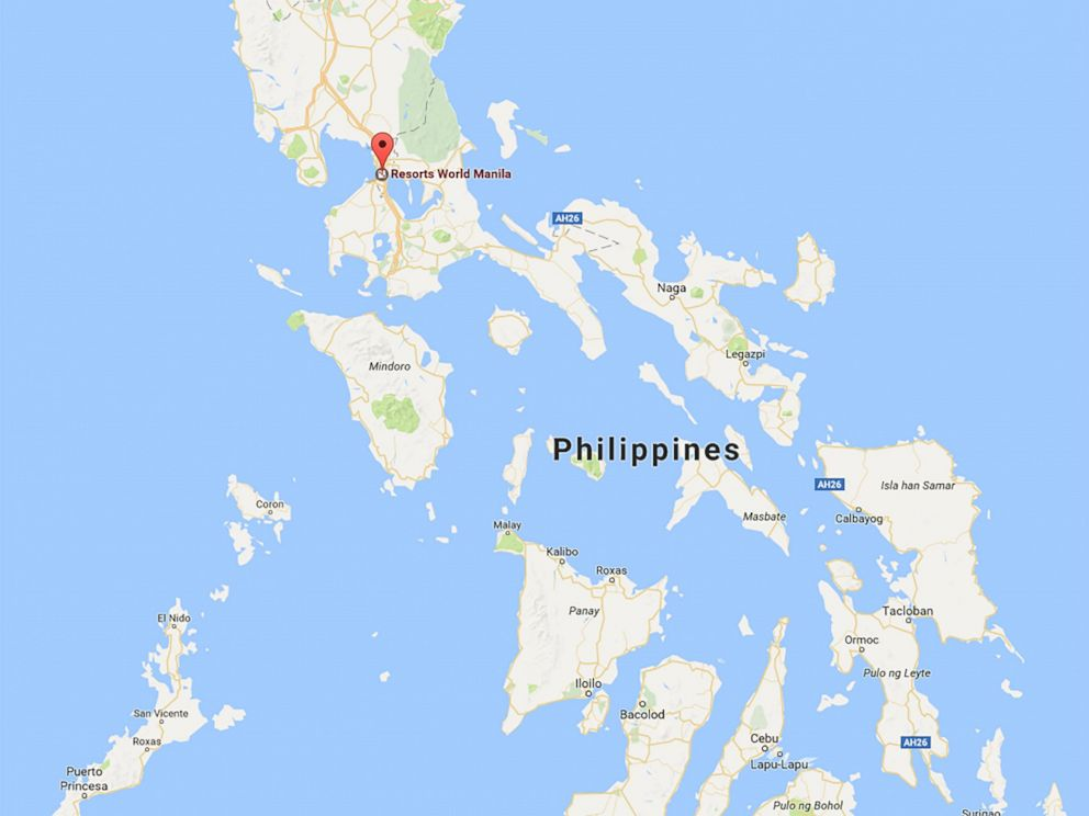 At least 35 dead in philippine resort attack suspect has killed photo resorts world manila pasay city in the manila metro area google maps gumiabroncs Gallery