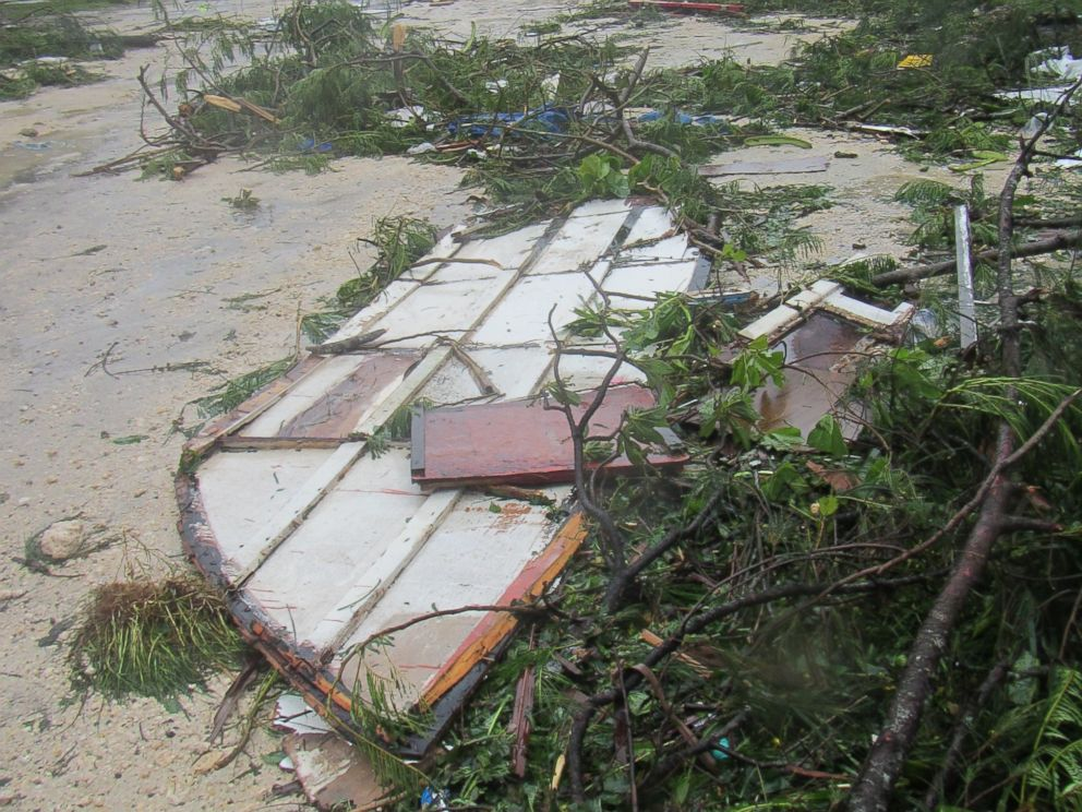 PHOTO: Damage from a tropical cyclone can be seen in Port Vila, Vanuatu, March 14, 2015.