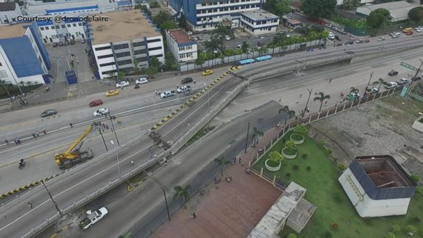 Drone Video Captures Deadly Earthquake Aftermath in Ecuador