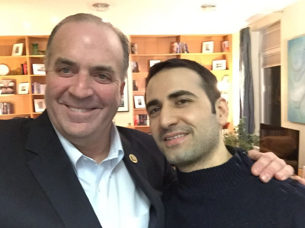PHOTO: Pictured is Michigan Congressman Dan Kildee with Amir Hekmati at the Landstuhl Regional Medical Center in Germany.