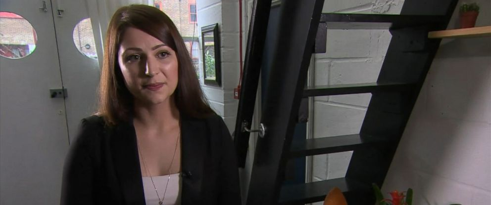 PHOTO: Nicola Thorp, 27, says that she was sent home from work after refusing to wear high-heel shoes for a temp job as a receptionist for PwC in London that she got through outsourcing firm Portico.