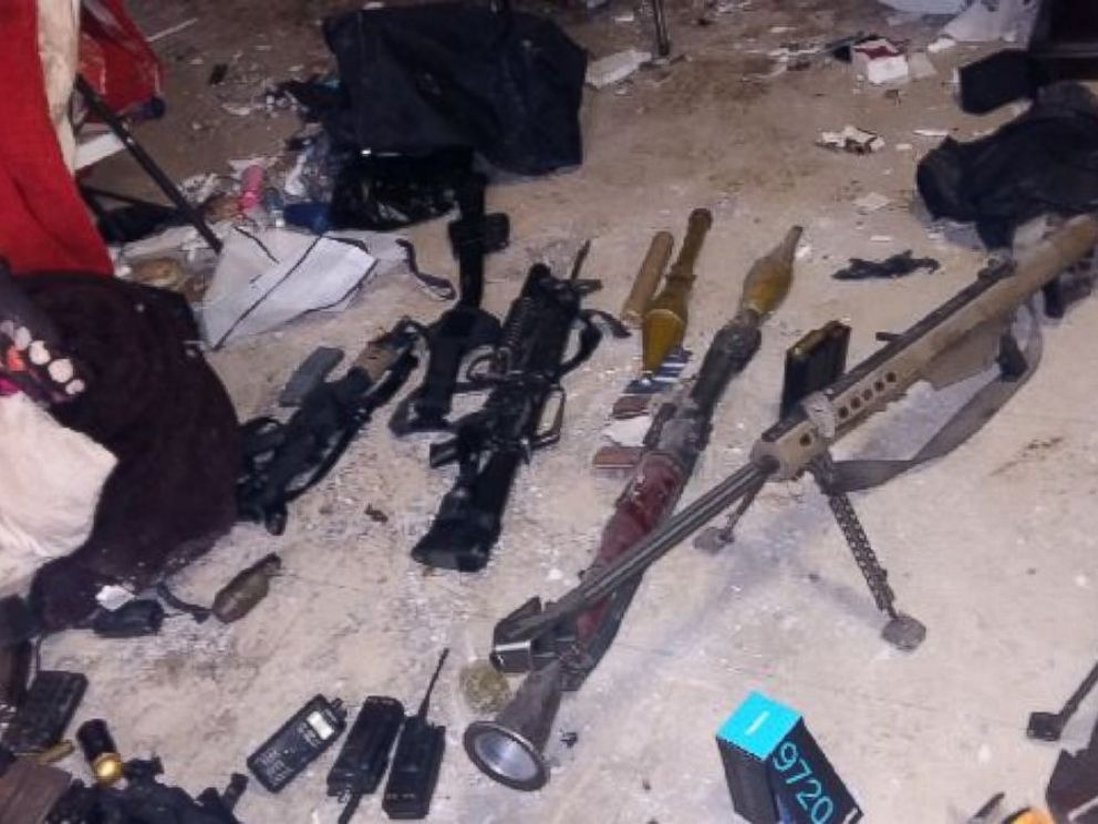 PHOTO: The Mexican Navy has released this photo of the weapons they seized, Jan. 8, 2016, during a raid in Los Mochis, in the state of Sinaloa.