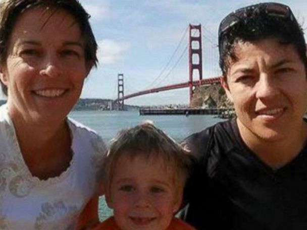 PHOTO: Maj. Adrianna M. Vorderbruggen (right) pictured with her wife, Heather Lamb, and son. Maj. Vorderbruggen was one of the six Airmen who lost their lives in an improvised explosive attack near Bagram in Afghanistan on Dec. 21, 2015.