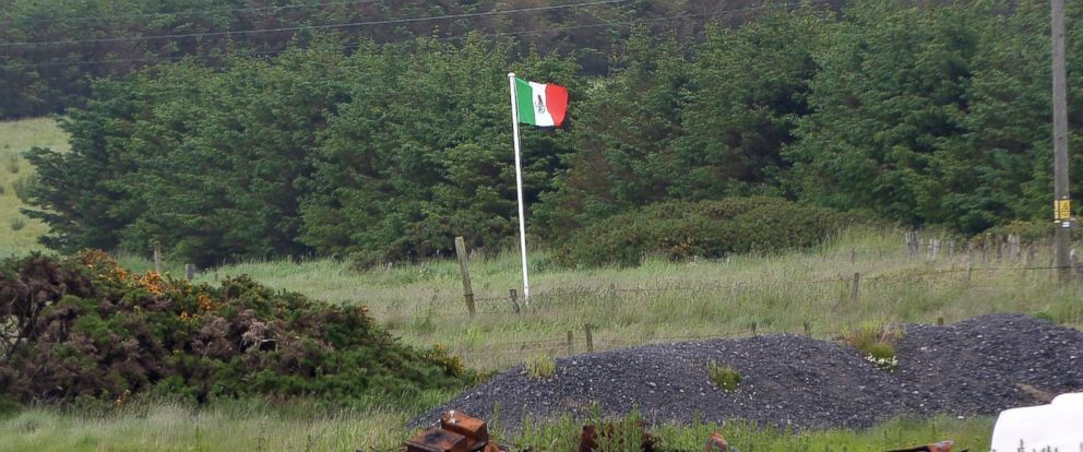 PHOTO: A Mexican flag floating near Donald Trump's golf course in Aberdeenshire.